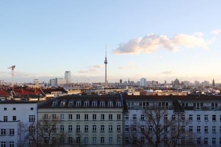 Wieża telewizyjna w Berlinie – widok z Zionskirche Berlin