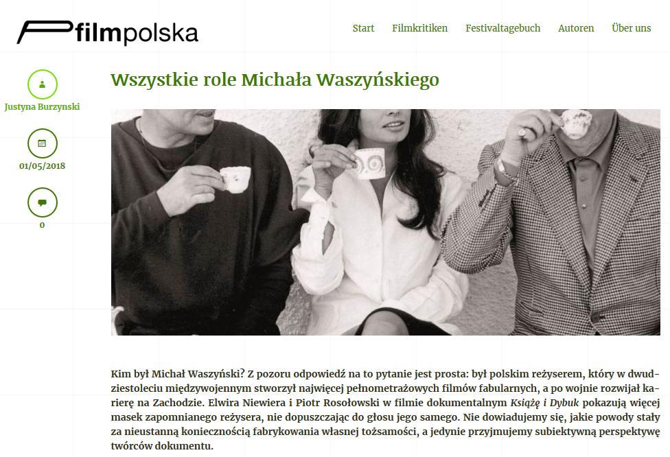 FilmPolska - Wszystkie role Michała Waszyńskiego