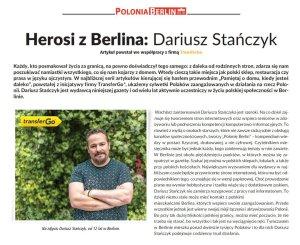 Herosi z Berlina - Dariusz Stańczyk