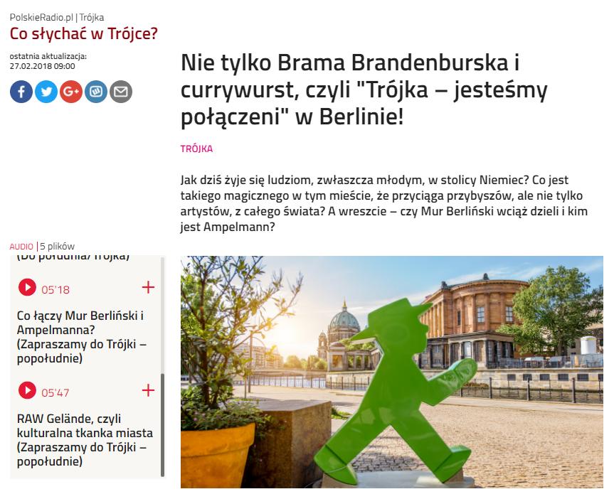 Trójka Polskie Radio - RAW Gelände