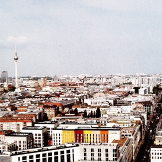 Wieża telewizyjna w Berlinie – widok z Potsdamer Platz